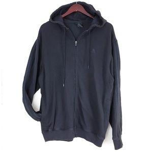 Adidas Black Full Zip Hooded Sweater Men's Large